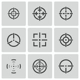 Vector balck crosshair icons set Royalty Free Stock Photography