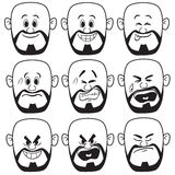 Vector Bald Man Face Expression Royalty Free Stock Images