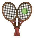 Vector ball and racket tennis Royalty Free Stock Photos