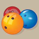 Vector ball. Realistic illustration. Bowling balls. Realistic game element Equipment Stock Image