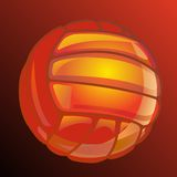 Vector ball for volleyball. Royalty Free Stock Images