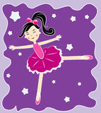 Vector ballerina Royalty Free Stock Image