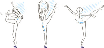 Vector ballerinas Stock Photos