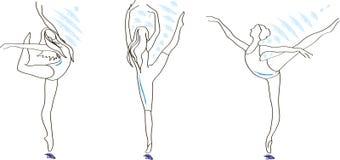 Vector Ballerinen lizenzfreie abbildung