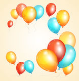 Vector ballon card Royalty Free Stock Photo