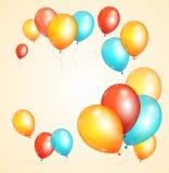 Vector ballon card. Vector illustration colorful ballon card for birthday or party Royalty Free Stock Photo