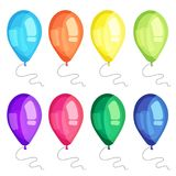 Vector ballons set for birthday and greeting cards. Vector ballons set. Can be used for birthday and greeting cards Royalty Free Stock Image