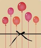 Vector balloon birthday card design Royalty Free Stock Photos