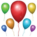 Vector Balloon. Color set. Royalty Free Stock Images