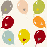 Vector balloon with love card design. Illustration of  balloon with love card design Royalty Free Stock Photography