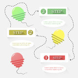 Vector balloon step options Royalty Free Stock Images