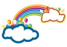 Vector Balloons And Rainbow Stock Image