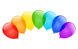 Vector balloons. Vector color glossy balloons with place for text Royalty Free Stock Photos