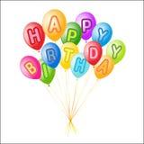 Vector balloons decoration ready for birthday Royalty Free Stock Photo