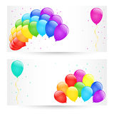 Vector balloons. Vector holiday banners with colorful balloons Royalty Free Stock Photos