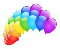 Vector balloons. Vector illustration colored glossy balloons on white Stock Photography
