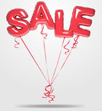 Vector balloons sale text royalty free illustration