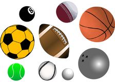 Vector Balls Stock Photography