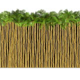 Vector Bamboo Border with Palm Stock Images