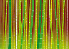 Vector Bamboo Forest on Gradient Background Stock Photography