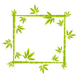 Vector bamboo funny frame Stock Photography
