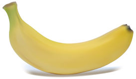 Vector a banana illustration. On a white background Stock Photography