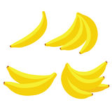 Vector bananas on white background Stock Photography