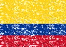 Vector a bandeira de Colômbia, ilustração da bandeira de Colômbia, imagem da bandeira de Colômbia, bandeira de Colômbia ilustração royalty free