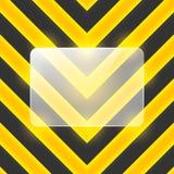 Vector a bandeira de vidro em listras pretas e amarelas Fotos de Stock