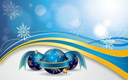 Vector a bandeira vermelha do Natal Imagens de Stock