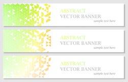 Vector bandeiras com fundo poligonal colorido abstrato do mosaico Fotos de Stock Royalty Free
