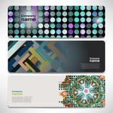 Vector bandeiras do molde com tecnologia digital e Internet Imagem de Stock
