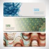 Vector bandeiras do molde com tecnologia digital e Internet Fotografia de Stock