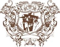 Vector bandit emblem Royalty Free Stock Image