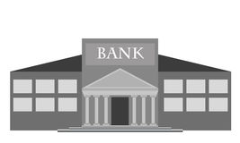 Vector bank building Stock Image