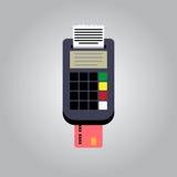 Vector Bank Card Reader Royalty Free Stock Image