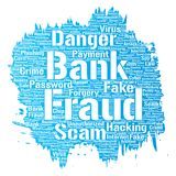 Vector bank fraud payment scam danger paint brush Royalty Free Stock Image