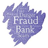 Vector bank fraud payment scam danger paint brush Stock Photos