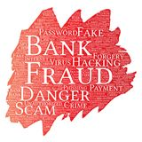 Vector bank fraud payment scam danger paint brush Royalty Free Stock Photo