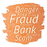 Vector bank fraud payment scam danger paint brush Royalty Free Stock Photography