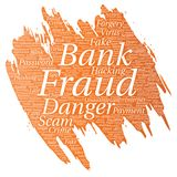 Vector bank fraud payment scam danger Royalty Free Stock Images