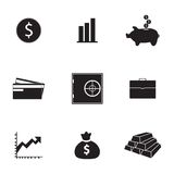 Vector bank icons set. On white background Royalty Free Stock Photo