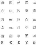 Vector banking icon set. Set of the banking related icons Stock Photo