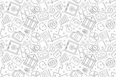 Vector Banking pattern. Banking seamless background. Vector illustration Royalty Free Stock Photography