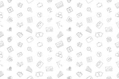 Vector Banking pattern. Banking seamless background. Vector illustration Stock Images