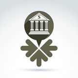 Vector banking symbol, revenue sources concept. Stock Images