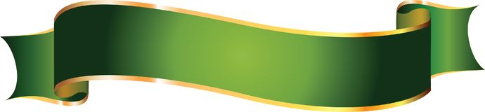 Vector banner. Vector green banner. Illustration for your design