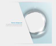 Vector banner background. White circle an� blue royalty free illustration