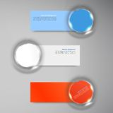 Vector banner background. White circle and set Royalty Free Stock Images