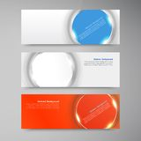 Vector banner background. White circle and set Stock Photo